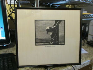 Vintage Framed Print La Croix Du Chemin By Rodolphe Duguay From Church Rectory