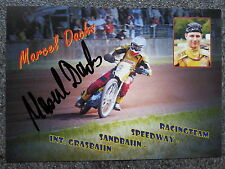 AK m.Orig.AG Marcel Dachs GER Grasbahn / Speedway Weltklasse Rarität!