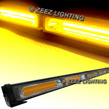 Yellow 60W COB LED Traffic Advisor Emergency Strobe Beacon Warning Light Bar C16