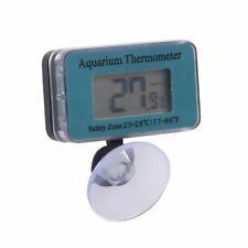 Aquarium Digital Thermometer Waterproof Submersible Fish Tank Suction Cups LED