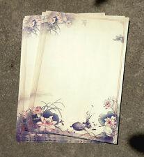 1 Pattern Flower 1 Letter Paper Stationery 8 sheets