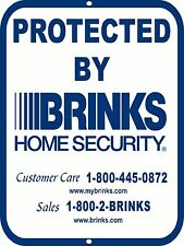 Brinks Security  9 x 12 Aluminum Alarm Home Sign Warning Video Surveillance
