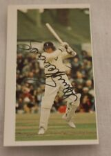 BARRY RICHARDS SIGNED LTD. EDN. CARD HAMPSHIRE AND SOUTH AFRICAN BATTING LEGEND