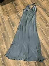 Anthropologie Ghost London Bias Maxi Dress In Silver Grey xl or size US 12 or 14