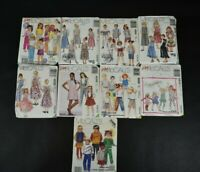 Vintage Bulk Lot of 9 80s 90s McCalls Children Kids Clothing Patterns Uncut
