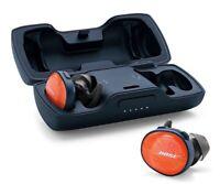 Bose SoundSport WIRELESS Free headphones Bluetooth NFC - Orange/BLUE *WITH CASE*