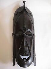 Ältere Holzmaske aus Afrika Troppenholz hand-geschnitzt 53 cm hoch