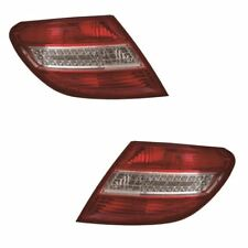 Mercedes C Class W204 Saloon 2007-3/2011 Led Rear Lights Lamps 1 Pair O/S & N/S