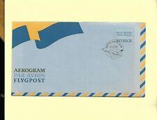 Sweden 1986 Aerogram Aviation Aircraft cancellation Flag Postal Stationary