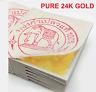 "GENUINE REAL PURE 24K 999 GOLD LEAF GILDING SHEET 1.18"" ( For Art Work or Spa )"