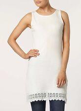 Dorothy Perkins New White / Cream Crochet Tunic Lace Dress Summer Size 8 - 16