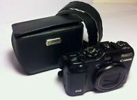 Canon Powershot G12 / PC1564 10.0mp Digital Compact Camera Black
