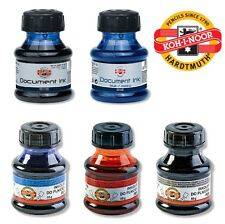 Fountain Pen Ink KOH-I-NOOR Refill Black Blue Red Green Document Writing 50g