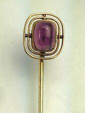 Art Deco Lg GF Amethyst  Stone Stick Pin Lapel Pin Tie Pin Tie Tack/Brooch
