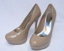 BAKERS PUMPS, Melina Taupe Patent Leather Platform Stiletto #2087 7.5B  $85