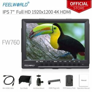"Feelworld FW760 7"" 7inch IPS Ultra-Thin Light HD On Camera Video Monitor 4K HDMI"