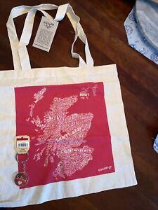 Gillian Kyle NWT Scotland Reusable Bag & Temple Island Collection Tartan Keyring