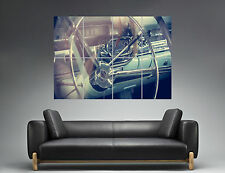 Vintage Cadillac Intérieur Steering Wheel Wall Art Poster Grand format A0