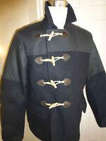 BNWT All Saints Navy Cadogan Duffle Coat Jacket size M  RRP £295