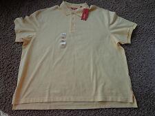 IZOD men's NWT sz 2XL yellow golf/work polo short sleeve cotton Big/Tall shirt