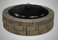 """Fire Ring Steel Lid 31"""" Black Wood Pit Accessory Spark Screen Outdoor Fireplace"""
