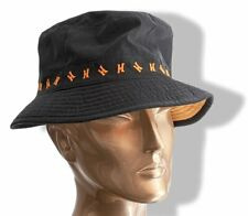 Hermes Black and Orange Embroidered H Bob Bucket Hat Sz57, New!
