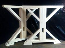Hand Built Trestle Farmhouse Table Legs