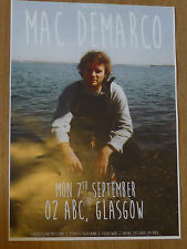 Mac Demarco - Glasgow sept.2015 tour concert gig poster