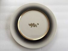 "Crestwood China Fascia Rose Black Border, Gold Ring - 10-1/2"" DINNER PLATE"