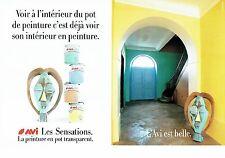 Publicité Advertising 0817  1992  les peintures pot transparent Avi ( 2pages)