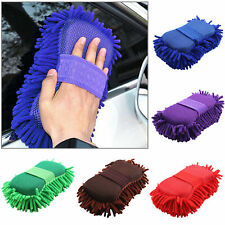 Car  Hand Wash Towel Microfiber Washing Gloves Coral Sponge Cleaning Tool