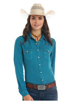 Panhandle Slim Women's Turquoise Snap Up Western Shirt R4S9446