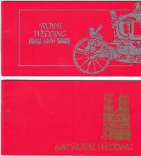 TUVALU. ROYAL WEDDING   TWO DIFFERENT BOOKLET 1986  BOTH MINT AND COMPLETE.