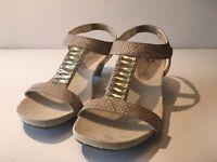 Anne Klein Teah iFlex Sandal (942) Natural/Gold Size 6.5M