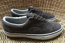 VANS Authentic Men's Women's Brown Suede Fleece-Lined Trainers Shoes UK 6 EU 39