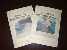 Short and Long Tail Mud motor, Step by step plans, TWIN pack.