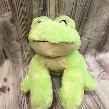 """Toy Factory Lime Neon Bright Green Frog 17"""" Large Stuffed Animal Plush"""