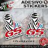 Adesivi / Stickers DAKAR PARIS BMW GS ENDURO R 1200 ADVENTURE 2.PZ H.QUALITY!