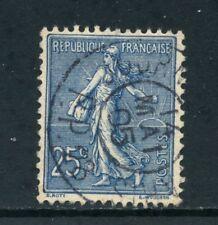 1903 - FRANCIA - 25c. BLU SEMINATRICE FONDO A LINEE - USATO - LOTTO/27090