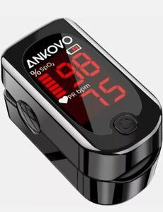 ANKOVO - Pulse Oximeter Fingertip, Blood Oxygen Saturation Heart Rate Monitor :