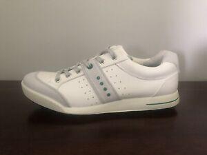 ECCO Street Retro Hybrid Men's Size 12-12.5 (EU 46) Golf Shoes  White/Green