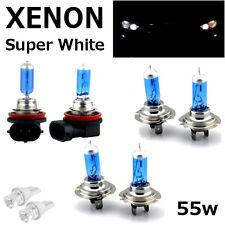 H7 H7 H11 55w SUPER WHITE XENON UPGRADE HID Headlight Bulbs SET 12v HIGH/LOW/FOG