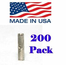 (200) 22-18 Ga NON-INSULATED BUTT TERMINAL CONNECTORS CRIMP UNINSULATED BARE USA