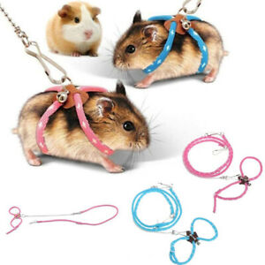 PET HARNESS&LEASH - Walk Safety Lead Animal Hamster Adjustable Rat Mouse Rope
