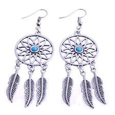 Boho Retro Dream Catcher Dangle Bead Earrings Feather Pendant Charm Jewelry New