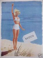 PUBLICITÉ DE PRESSE 1948 KESTOS SOUTIEN-GORGE SOUS-VÊTEMENTS - SEIGLE