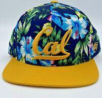 Cal State University Berkeley Hawaiian Floral Adjustable Hat College NEW RARE
