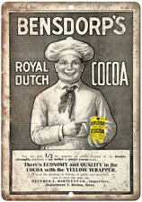 "Bensdorp's Royal Dutch Coca Vintage Ad 10"" X 7"" Reproduction Metal Sign N294"