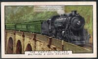 Capitol Limited NY To Chicago B And O RR Locomotive 80+ Y/O Ad Trade Card