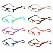 Click Adjustable Magnetic Front Connect Reading Eyeglasses New Full Rim Glasse